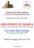 Locandina Abbazia di Sant'Antimo 25-05-2013 _C_